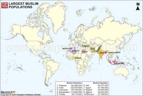 Крупнейшие исламские страны